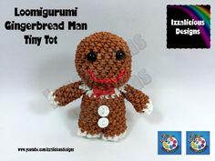 Loomigurumi Gingerbread Man Tiny Tot Christmas Figure - amigurumi w/ Rai...
