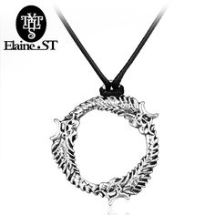The Elder Scrolls V: Skyrim Vintage Punk Style Men Jewelry Dragon Necklaces Pendants High Quality Fashion Rope Leather Necklace