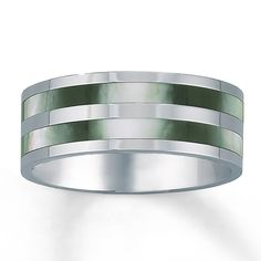 Men s 8mm Wedding Band Mother of Pearl Inlay Stainless Steel by Kay Jewelers   Kay Jeweler s  179 Men s Wedding Band Stainless Steel 7mm  . Kay Jewelers Mens Wedding Bands. Home Design Ideas