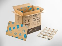 foodmailer® ECO für Online-Steaks. 1fg. Flexobedruckt zum Versand von Fleisch und Wurst aus dem Onlineshop.• #packit! #foodmailer #offset #packaging #karton #wellpappe #webshops #onlineshop #ecommerce #verpackungsdesign #nachhaltig #plasticfree #keinplastik #klimaneutral #recycling #lebensmittelversenden #gekühltversenden Shops, Steaks, Ecommerce, Recycling, Container, Food, Packaging Design, Paper Board, Meat
