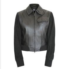 Nwt Y-3 Yohji Yamamoto Leather Jacket