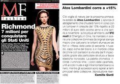 MFF MILANO FINANZA FASHION Italia - September 25th 2013 _ Pag. 4: #AtosLombardini brand review by Camilla Gusti.