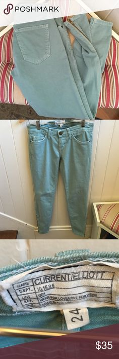 """Current Elliot Jeans Comfortable fun color with side zippers by ankle measure 36"""" waist to hem inseam 26"""" Current/Elliott Jeans Ankle & Cropped"""