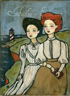 PRINT Anne and Diana, Anne of Green Gables by audreyeclectic on Etsy https://www.etsy.com/listing/79539168/print-anne-and-diana-anne-of-green