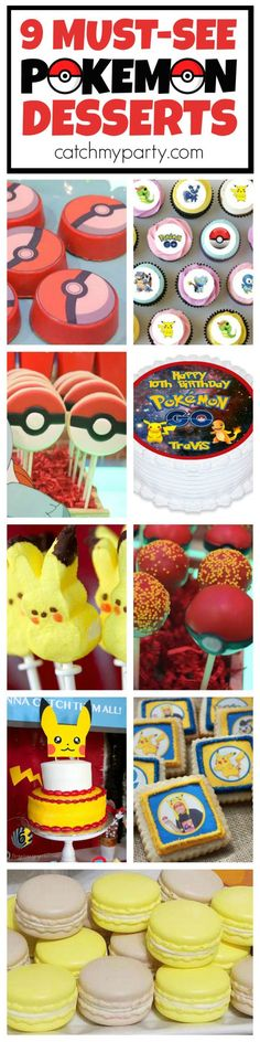 9 Pokemon Go Desserts! You've got see all the Pokemon cookies, cakes, and cake pops! | CatchMyParty.com