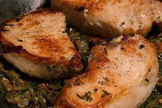 Foto de la receta de chuletas de cerdo con salsa de mostaza