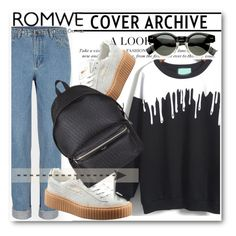 """Romwe !!"" by dianagrigoryan ❤ liked on Polyvore featuring Puma and Yves Saint Laurent"