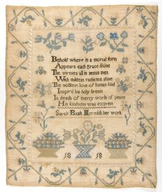 1818 Philadelphia Museum of Art - Collections Object : Sampler