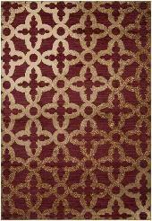 Surya Rug Harmony Red / Taupe Rug - if I keep same color decor