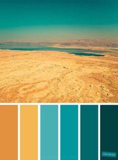 Color Schemes Colour Palettes, Nature Color Palette, Colour Pallette, Bedroom Color Schemes, Bedroom Colors, Color Combos, Yellow Color Schemes, Summer Color Palettes, Orange Color Palettes