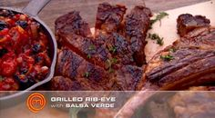 Chargrilled tomahawks in herb infused oil   MasterChef Australia