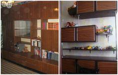 Немного фантазии и стенка трансформируется в современный стеллаж для детской комнаты