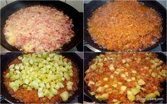 cum se face zacusca de dovlecei reteta Romanian Food, Grains, Rice, Vegetables, Cooking, Canning, Kitchen, Vegetable Recipes, Seeds