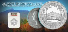 2013 America The Beautiful 5oz Silver White Mtn Coins