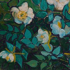 Wild Roses (detail) by Vincent van Gogh