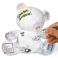 """Petit ours """"Teddy Bear"""" en tyvek à personnaliser avec des mots - Cadeau anniversaire enfant - Les mots sont des cadeaux"""