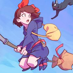 Official Post from Kuvshinov Ilya: Kiki's Delivery Service and Little Witch Academia crossover!My dear patrons will get:♥ High-Res♥ Process Steps♥ PSD♥ Full-Screen Video Processof this piece at this week's rewards! Studio Ghibli Films, Art Studio Ghibli, Hayao Miyazaki, Kuvshinov Ilya, Little Witch Academy, Anime Crossover, Animes Wallpapers, Cute Art, Art Reference