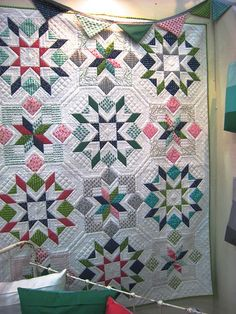 "Looks like Swoon, but it's a pattern called Flower Box by V&Co. Measures 52"" x 68"" if you follow the pattern."