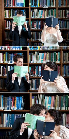 Wedding photograph, Love and Literature.  Post by rebecca@rockmywedding