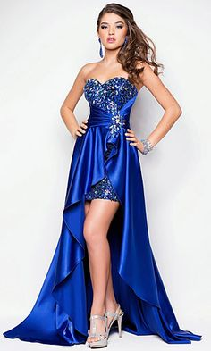 LondonProm @ Sequined Evening Dresses party full length prom gown ball dress robe High Low A-line Strapless Gold High Low Gown, High Low Prom Dresses, Prom Party Dresses, Ball Dresses, Homecoming Dresses, Strapless Dress Formal, Ball Gowns, Formal Dresses, Dress Prom