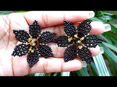 Beaded Jewelry Designs, Handmade Beaded Jewelry, Bead Jewellery, Seed Bead Patterns, Beading Patterns, Jewelry Making Tutorials, Beading Tutorials, Chunky Knitting Patterns, Earring Tutorial