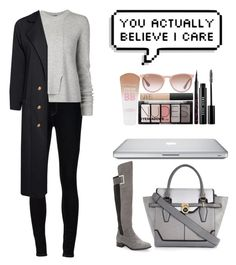 """""""Autumn"""" by yesanastasia1919 ❤ liked on Polyvore featuring Calvin Klein, Ström, Proenza Schouler, Boohoo, River Island, OverTheKneeBoots and dusterjacket"""
