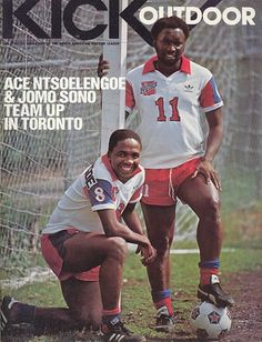ACe Ntsoelengoe and Jomo sono Play Internally for Toronto soccer Club North American Soccer League, African Men, Black Square, Soccer Players, Football Shirts, Racing, Culture, Baseball Cards, Shorts