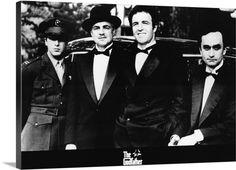 Al Pacino, Marlon Brando, James Caan and John Cazale in The Godfather directed by Francis Ford Coppola, 1972 Marlon Brando, Corleone Family, Don Corleone, Fredo Corleone, It Movie Cast, Movie Tv, Mafia, The Godfather, Romantic Couples
