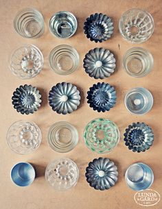 Love the collection of vintage bundt pans! It is a work of art. (The glass ones are amazing! Never seen a glass bundt before!)