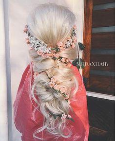 Curls, Flowers & Bouffant Style