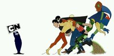 We want Young Justice back! I only watched season 1 and part of 2 but still. How could CN be SO STUPID and get rid of one of their VERY FEW non stupid shows?!