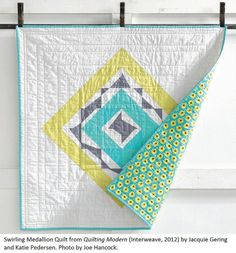 swirling medallion quilt from quilting modern book
