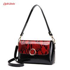 Cloth Shake Women Handbags New Fashion Snakeskin Pattern PU Leather Shoulder Bag Women Hasp Tote Bolsa Feminina Multi-purpose #Affiliate