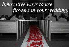 Some ideas for different ways to use flowers and plantables in your #wedding.