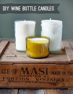 How to make Wine Bottle Candles @savedbyloves