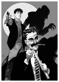 Dylan Dog, Groucho Marx y Nosferatu por Massimo Carnevale Character Design References, Character Art, Comic Book Covers, Comic Books, Hugo Pratt, Dylan Dog, Bd Comics, Illustrations, Character Design Inspiration