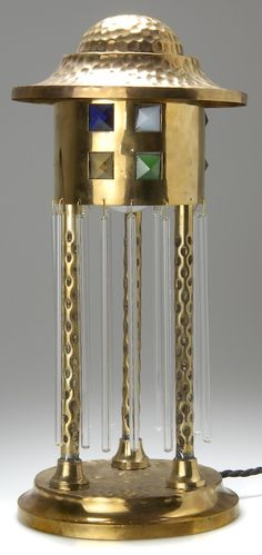 Viennese Secessionist table lamp, c. 1905 #lighting #interiordesign #decor