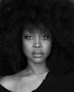 Erica Badu. A beautiful and unique woman that is not afraid to push the limits. Awesome afro.