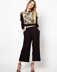 Image 1 of ASOS Cropped Wide Leg Pants Must have these pants!