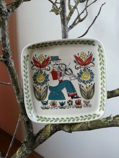 Vintage Figgjo Flint Turi Saga Norway 4x4 Ceramic by fcollectables, €12.50
