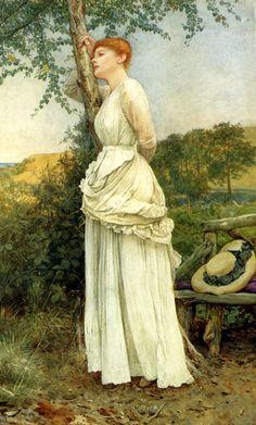 Edward Killingworth Johnson (1825-1896) The Trysting Place Oil on canvas 1885 30.4 x 49.5 cm (11.97 x 19.49)