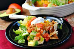 taco salad casserole - love a one dish meal!