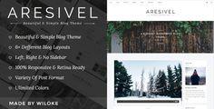 Aresivel - A Responsive WordPress Blog Theme • Download theme ➝…