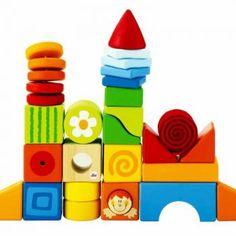 Prachtige houten blokken in de mooiste kleuren. Da's goed speelgoed voor een kind van 1 jaar. Cube Toy, Go Fly A Kite, Baby Toys, Fantasy, Cubes, Fun Stuff, Random, Dice, Fantasy Movies