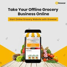 How to Enter in the Online Grocery Industry. Food Graphic Design, Food Poster Design, Creative Poster Design, Creative Posters, Food Design, Ui Design, Grocery Shopping App, Grocery Ads, Online Grocery Store
