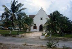 Photo made by Hugo Groeneveld, 1960  Lago Community Church, Lago Colony, Aruba.