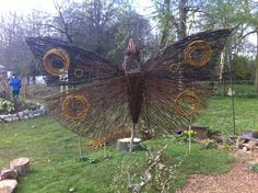 willow butterfly - space for a face! Out to Learn Willow