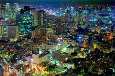 じんのブログ-六本木ヒルズから見下ろす東京の夜景