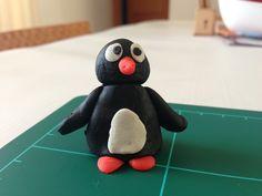 Pingüino de plastilina