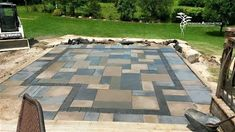 Adding borders or banding to your outdoor patios will really enhance the aesthetics. Backyard Patio, Outdoor Patios, Outdoor Decor, Holiday Lights, Landscape Lighting, Patio Design, Exterior, Aesthetics, Create